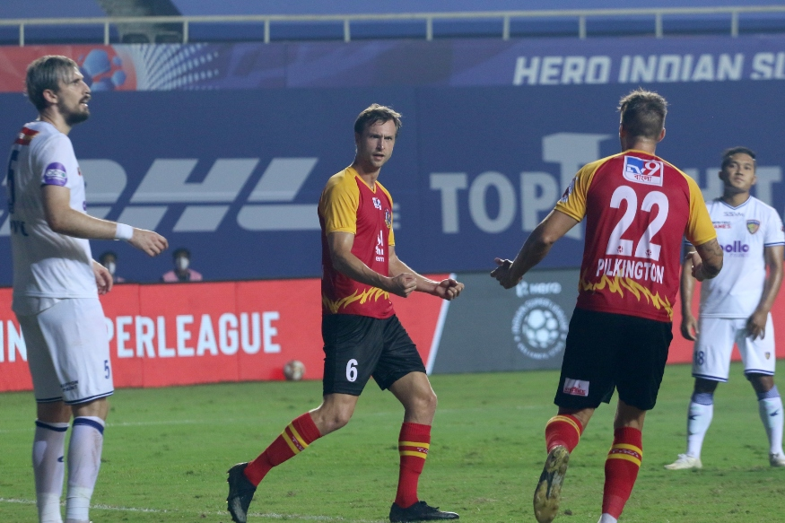 ISL 2020-21: Steinmann Scores Brace as SC East Bengal Draw 2-2 with Chennaiyin FC, In Pics