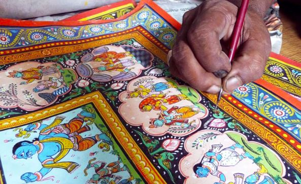 Odisha's oldest art form 'Pattachitra' from 5th BC preserved in Raghurajpur