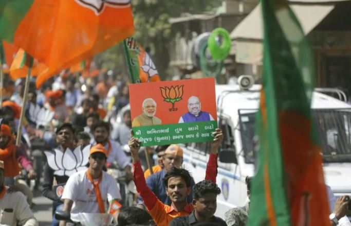 Gujarat Municipal Elections: BJP wins 92 of 575 seats, AAP claims 4