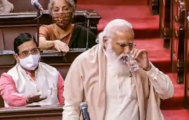 PM Modi sobs out farewell speech for Ghulam Nabi Azad in Parliament