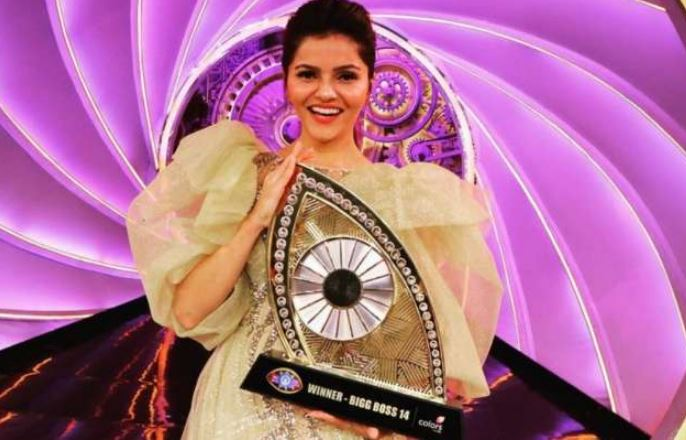 Bigg Boss 14 winner Rubina Dilaik boasts her trophy on Instagram!