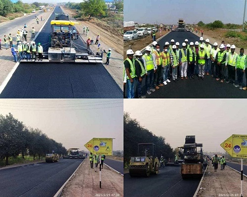 25.54-km single lane road developed by NHAI in record 18 hours, Gadkari shares pics