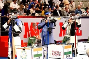 ISSF World Cup: India win silver in men's team air rifle event