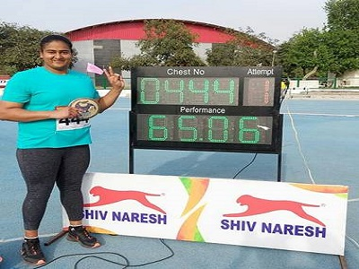 Kamalpreet Kaur breaks national record in women's discus throw, qualifies for Tokyo Olympics
