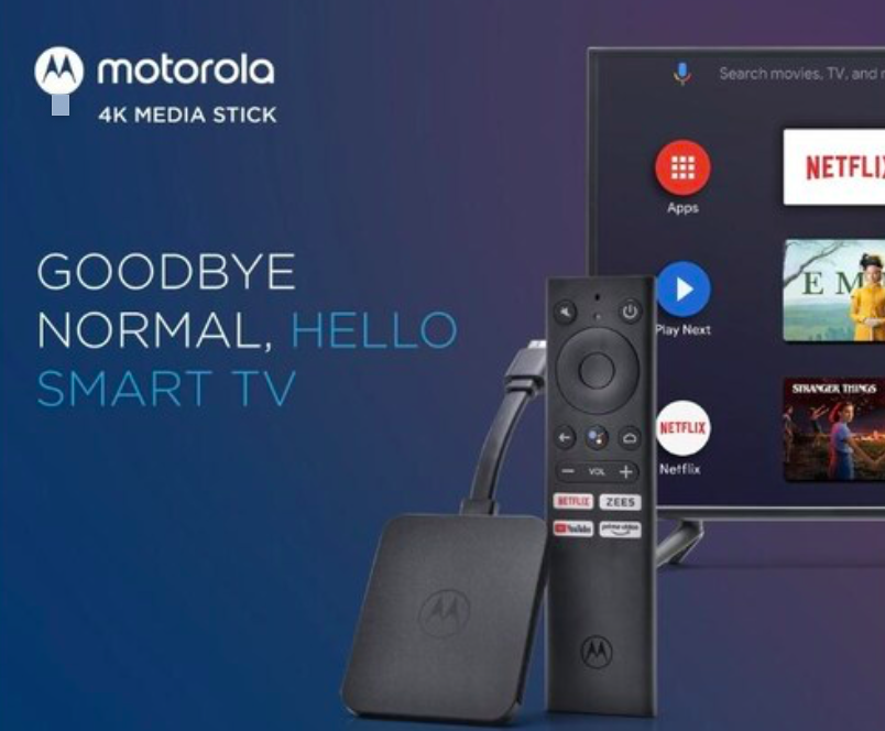Motorola 4K Android TV stick finally launched in India, Know price, availability…
