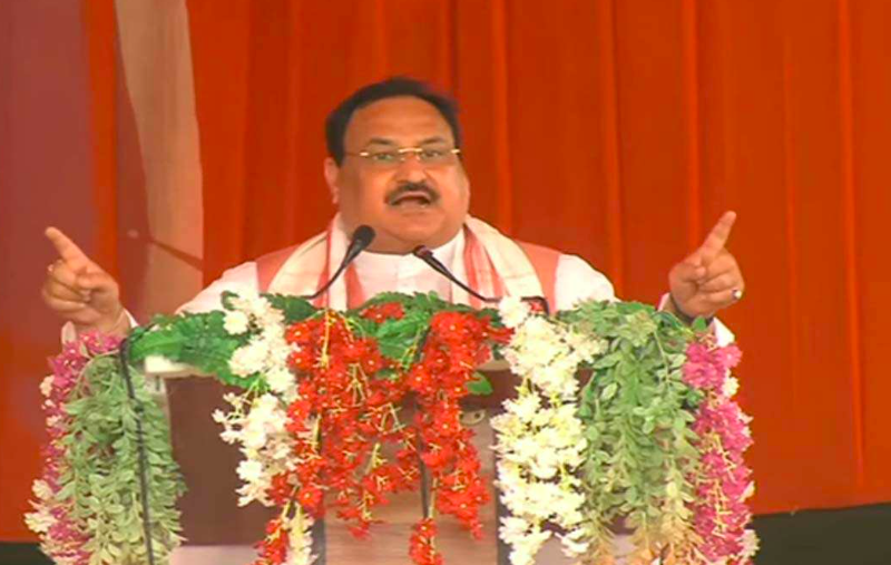 Assam assembly polls: JP Nadda releases BJP Manifesto in the poll bound-state