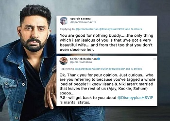 Man tells Abhishek 'You've a beautiful wife you don't deserve', actor responds