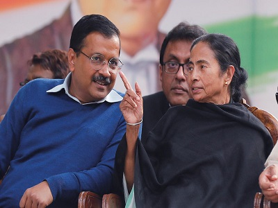 'Surgical strike on federal structure': Mamata extends support to Kejriwal over NCT Bill