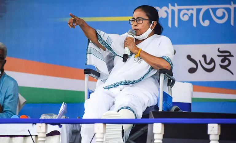 """Mamata's releases manifesto, calls it to be """"a development-oriented"""" one"""
