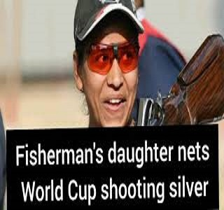 Fisherman's daughter nets World Cup shooting silver