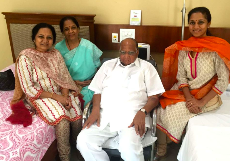 NCP chief Sharad Pawar admitted to Mumbai hospital after abdomen pain
