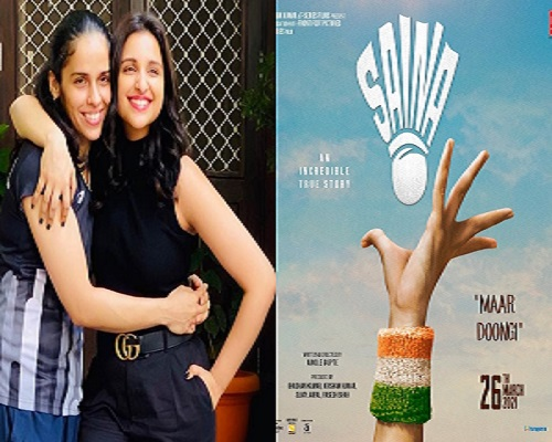 Twitter users point out 'incorrect' serve in Parineeti's Saina biopic poster