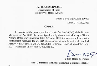 Govt extends Covid-19 containment measures in the Country till June 30
