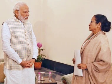 CM Banerjee meets PM for 15 mins over Cyclone, then skips larger meet