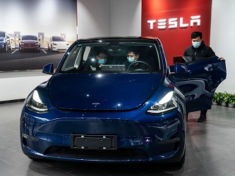 Tesla cars barred from some Chinese govt compounds: sources