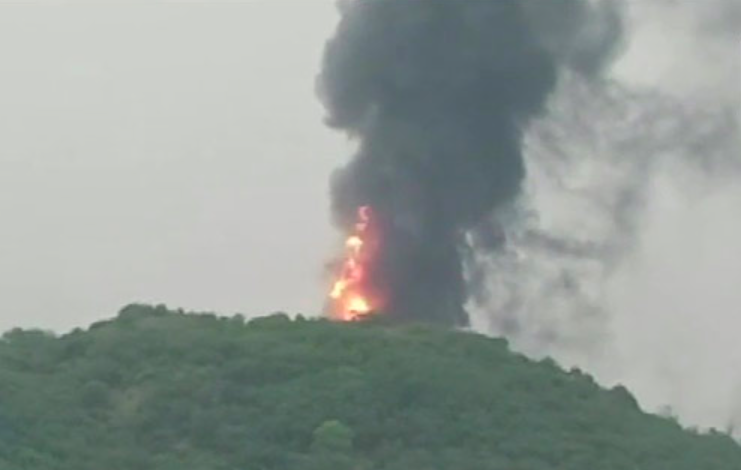 Massive fire breaks out at oil refinery in Visakhapatnam