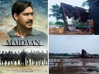 Ajay Devgn's 'Maidaan' movie set destroyed due to Cyclone Tauktae, video surfaces