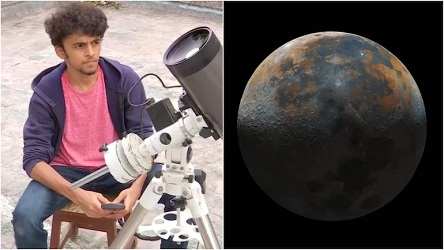 """""""50,000 photos, took 40 hours"""":16-year-old pune boy captured this viral Moon pic"""