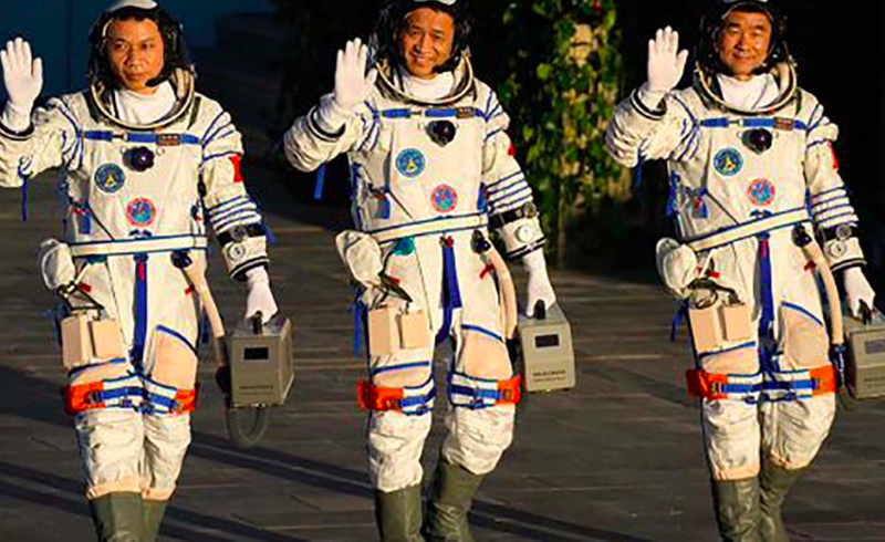 First Chinese astronauts arrive at Tiangong space station