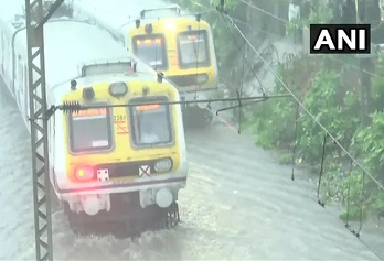 Watch: Heavy rains, waterlogging in Mumbai, local train service on Central line disrupted