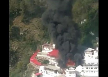 Fire breaks out at a building near Mata Vaishno Devi shrine; video surfaces
