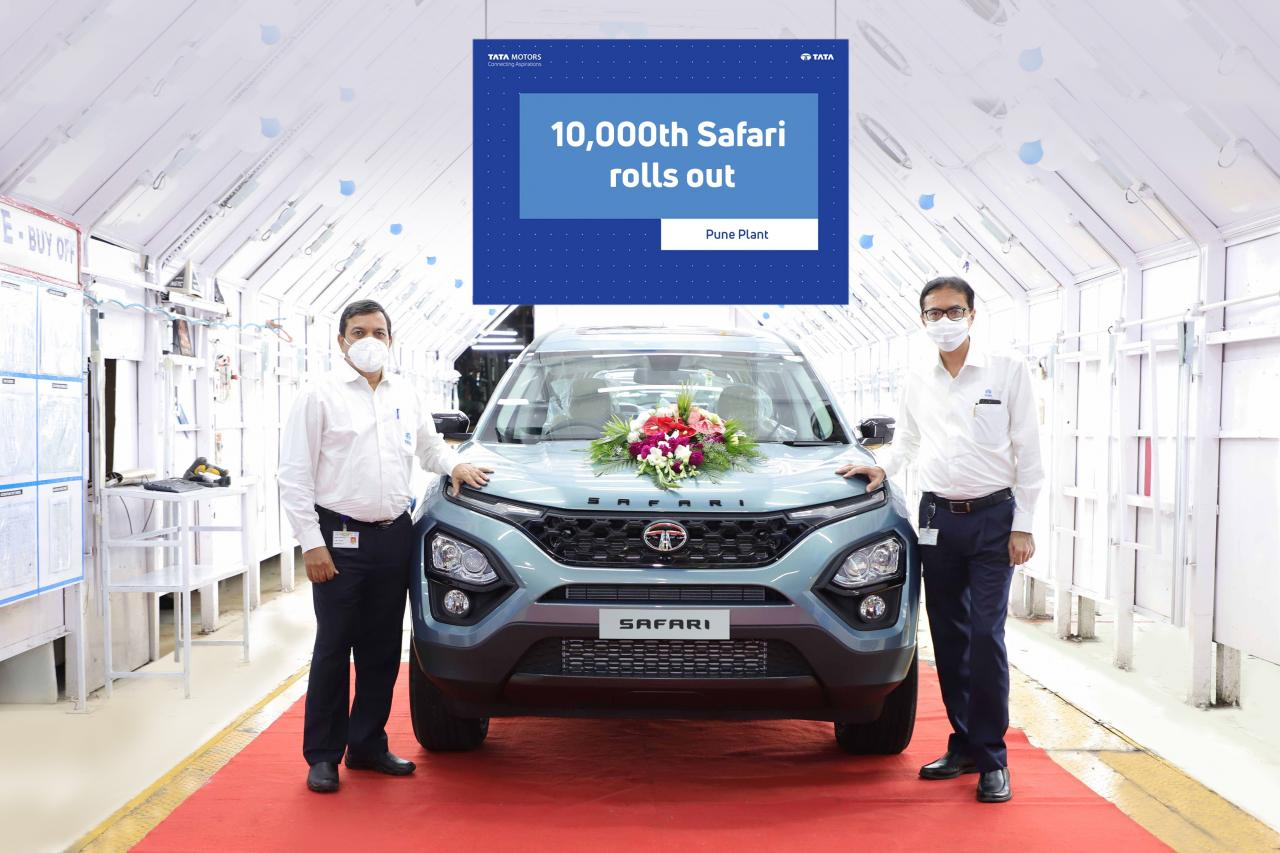 Tata Safari achieves 10,000th production units in just five months