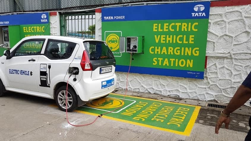 With the Collaborataion of Tata Power Partners With HPCL To Set Up EV Charging Stations At Its Petrol Pumps