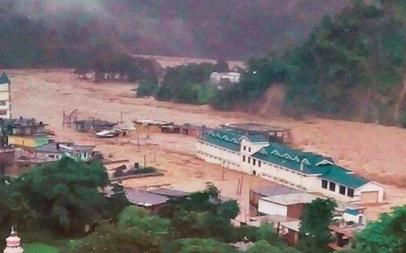 Cloudburst, flash floods in Himachal's Dharamshala destruct everything in its way