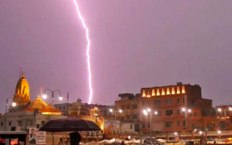 Lightning strikes claims 49 lives across UP, Rajasthan