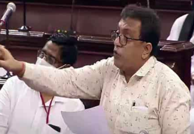 TMC MP Santanu suspended from RS for snatching Pegasus papers from IT minister