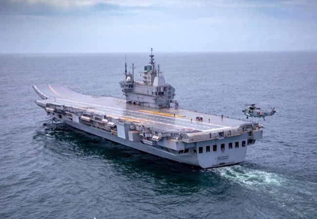 India's first indigenous aircraft carrier Vikrant finally sets for sea trials