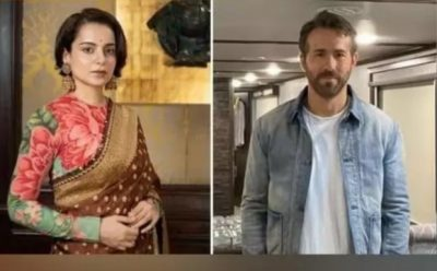 Kangana reacts to Ryan Reynolds' 'Hollywood is mimicking Bollywood' comment