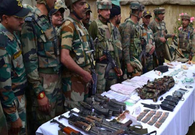 Army foils infiltration bid near LoC, 3 terrorists killed, huge cache of ammunition recovered
