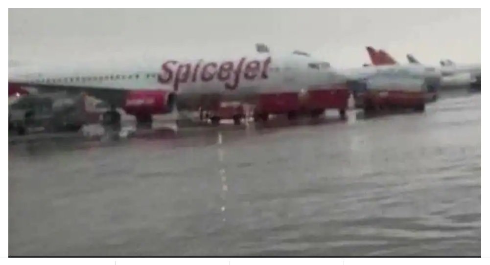 Delhi airport drenched in heavy rain, city records highest rainfall in 46 years