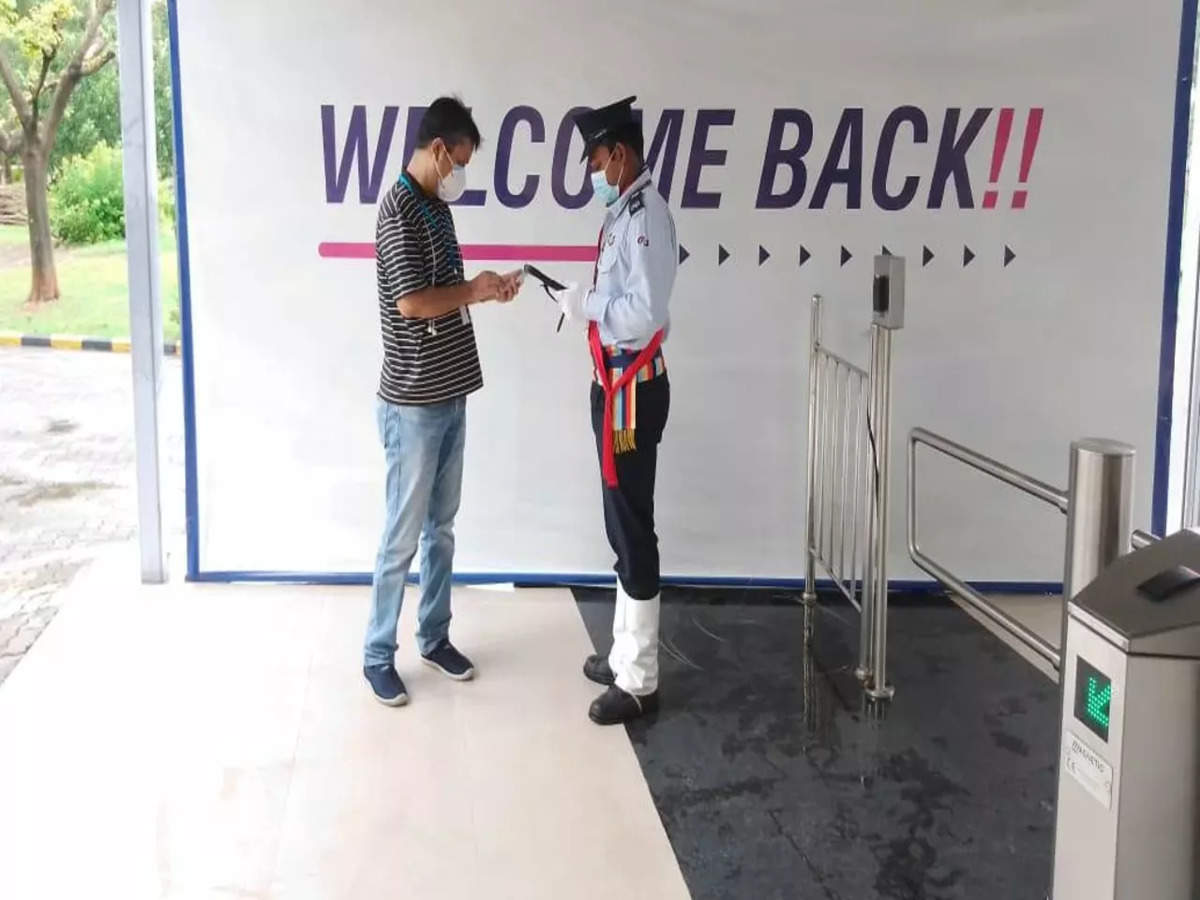 """Wipro leaders had been greeted with """"welcome again"""" signages"""