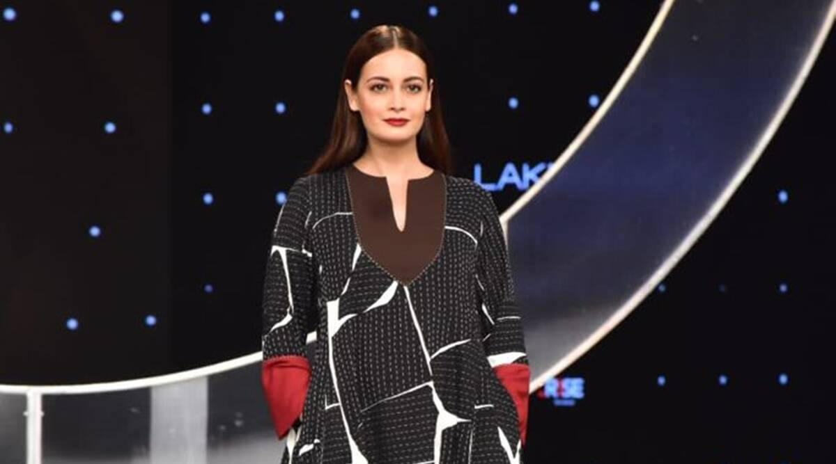 Dia Mirza turned showstopper for Abraham & Thakore at Lakme Fashion Week